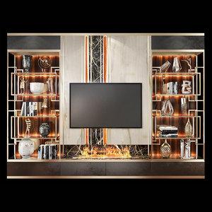 3D tv wall units set