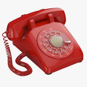 retro rotary phone 3D model