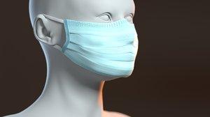 medical mask head model