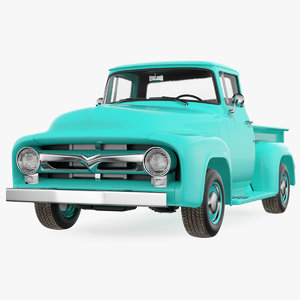 3D classic pickup truck