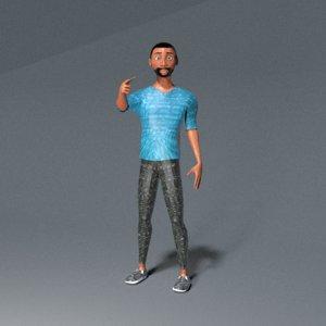 blender rigged 3D model