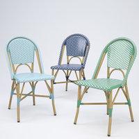 Salcha Indoor Outdoor French Bistro Side Chair 3D model