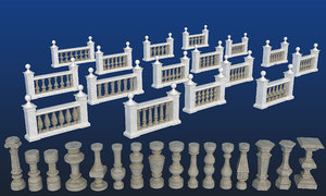 classic balustrade 3D model
