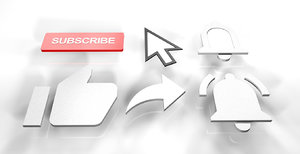 subscribe youtube y 3D model
