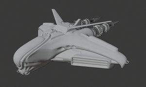 intergalactic spaceship 3D model