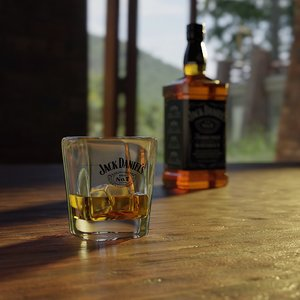 jack daniel s glass 3D