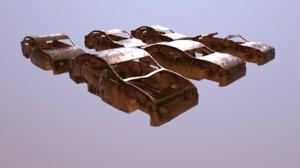 car apocalypse damaged 3D model