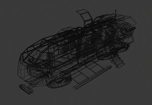 3D model futuristic transport