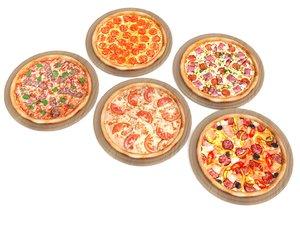 3D model 5 pizza pack