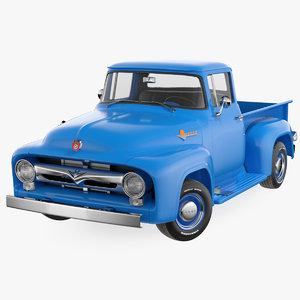 1956 f100 pickup truck 3D model