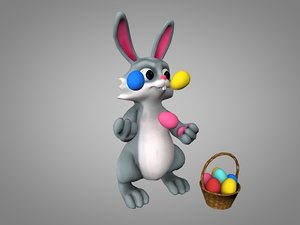 easter bunny 3D