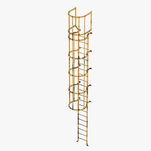 access ladder industrial 3D model
