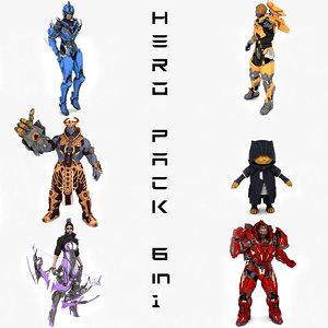 hero pack 6 1 model