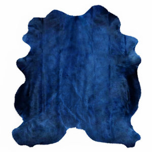 wool blue cowhide rug 3D model