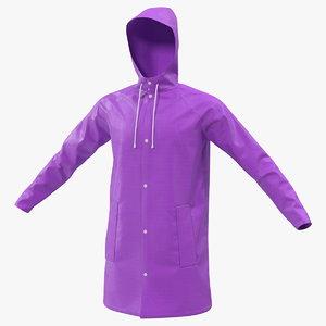outdoor waterproof raincoat rain 3D model