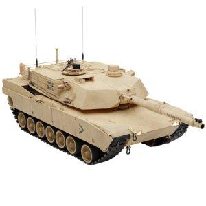 3D model m1 abrams tank blender