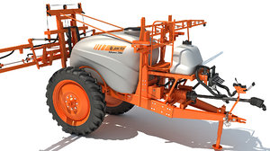 3D jacto trailed sprayer model