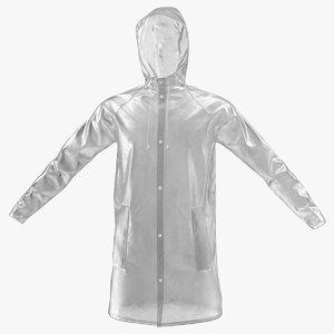transparent raincoat waterproof rain 3D model