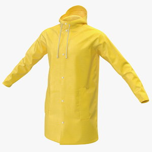 waterproof outdoor raincoat coat 3D model