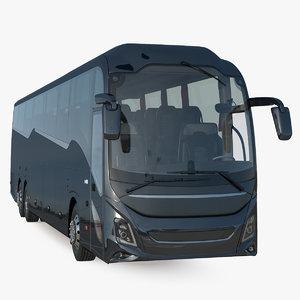 luxury coach tour bus 3D model