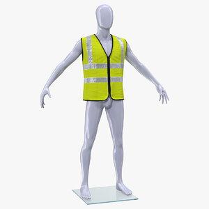 3D mannequin yellow hi vis