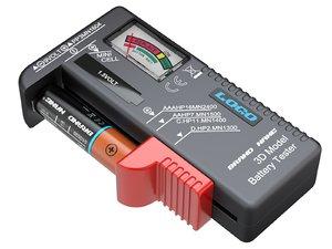 3D aa battery tester