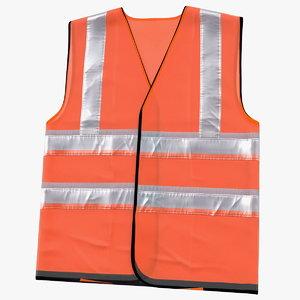 3D orange hi vis safety