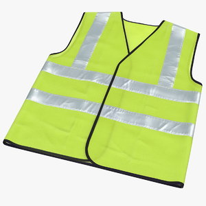 3D yellow hi vis safety