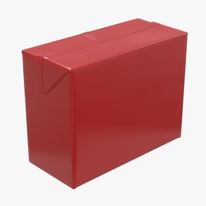 3D model medium packaging box