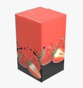juice packaging 500 3D model