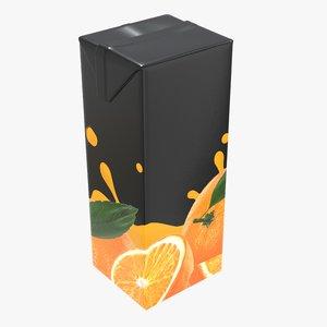 3D juice packaging 1000 model