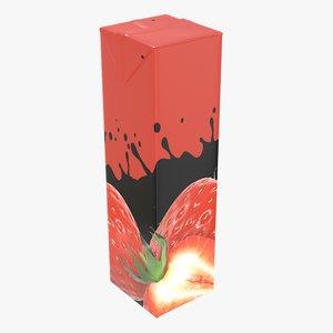 3D juice packaging 1000