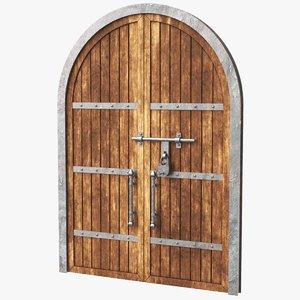 real old door 3D model