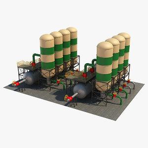 industrial silo 4 3D