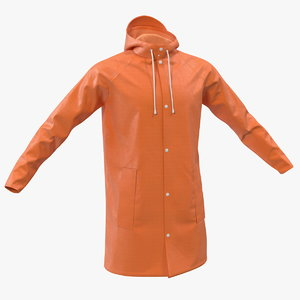 polyester raincoat rain 3D model