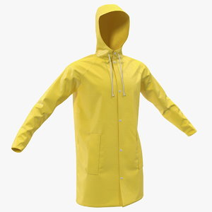 3D raincoat waterproof rain coat model