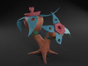 3D fantasy plant