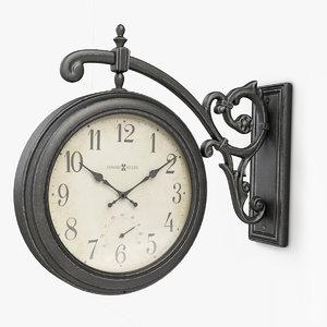 3D model howard miller street clock