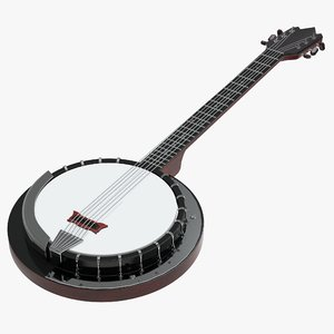3D musical instrument banjo model
