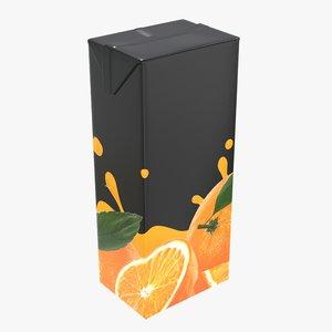 juice packaging 1500 3D model