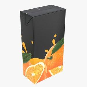 3D juice packaging 2000 model