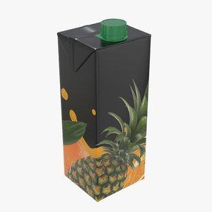 juice packaging cap 3D model