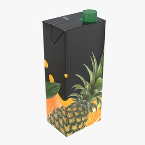 3D juice packaging cap