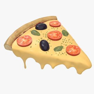 pizza slice cheese 3D model