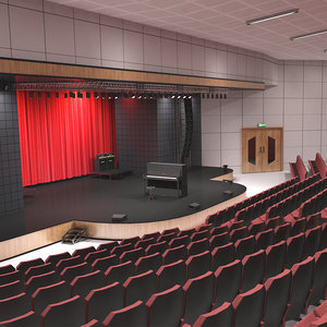 3D model piano concert hall