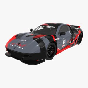 ligier js2 r limit 3D model