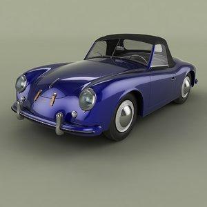 1953 porsche 356 america 3D model