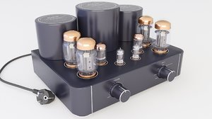 amplifier vacuum tube 3D