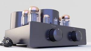 amplifier vacuum tube 3D
