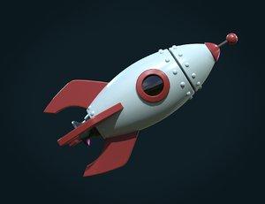 3D pbr rocket model